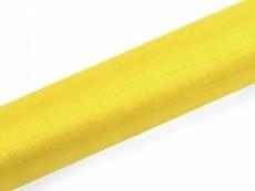 Organza, ca. 36 cm x 9 Meter Rolle, gelb