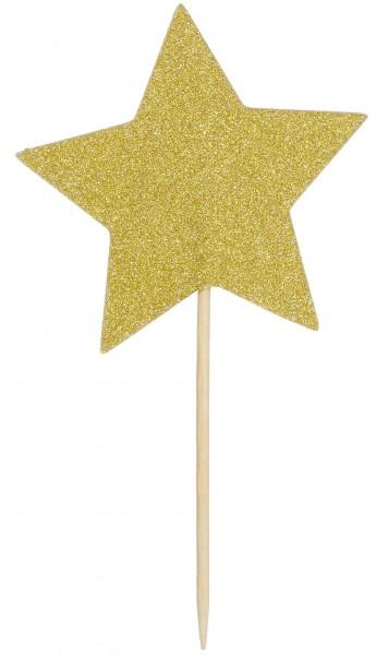 Picker Sterne gold, ca. 10 cm, 12 St.