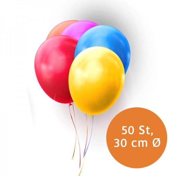 100 Luftballons Balloons Standard ca 85 cm Umfang bunt oder Einzelfarben