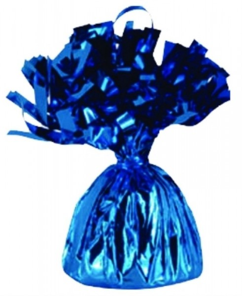 Ballongewicht Folie mit Fransen, ca. 170 gr., blau