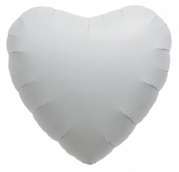 Folienherz weiß, Riesenballon, ca. 90 cm