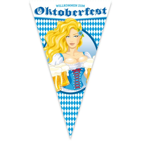 Riesen-Fahne Wimpel Bayernfest ca. 90x150 cm