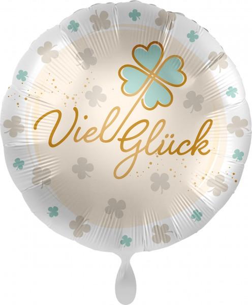 Ballongruß: Viel Glück Glücksklee, ca. 45 cm