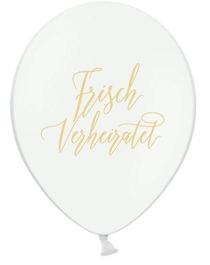 5 Ballons Frisch verheiratet, ca. 30 cm