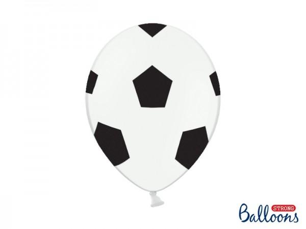 6 Ballons Fußball Rauten, ca. 30 cm