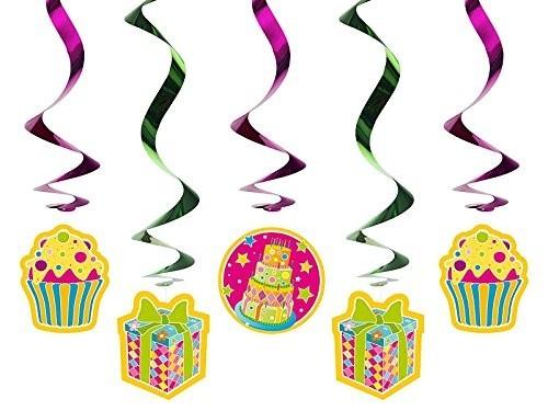 Swirl-Deko Geschenke / Cupcakes, 5 St., ca. 60 cm