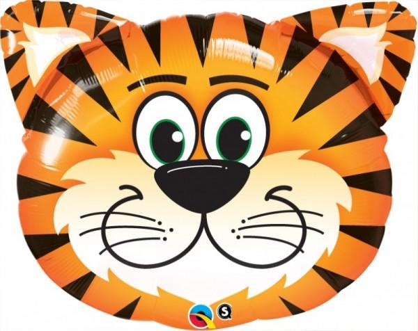 Ballongruß XL: Tiger, Kopf, ca. 76 cm