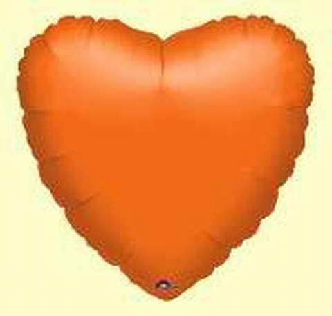 Folienherz, orange, 45 cm