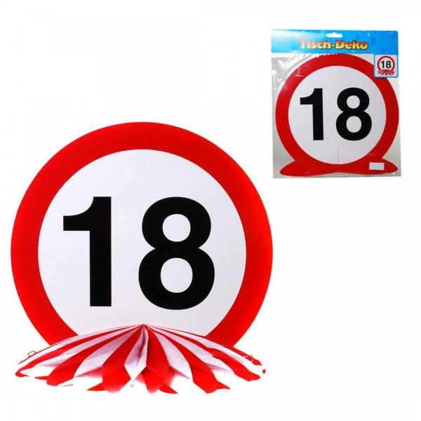 Tischdeko 18 Verkehrsschild, Schild auf Wabenfächer, ca. 25 cm
