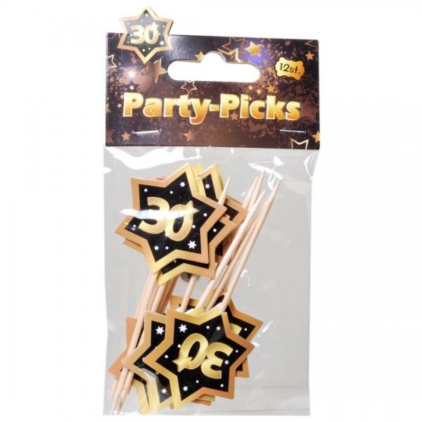 Picker 30 schwarz/gold, 12 St.