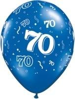 5 MINI-Zahlenballons 70, bunt gemischt, Qualatex