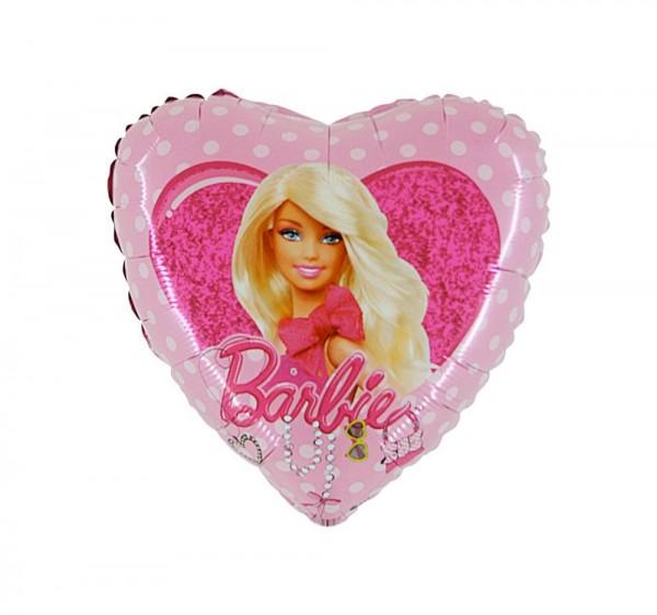 Folienherz Barbie, ca. 45 cm