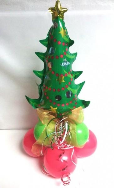 Ballondeko Tannenbaum auf Ballonfuß, ca. 40 cm, luftgefüllt