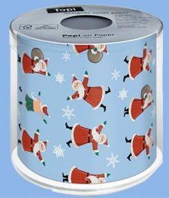 Toilettenpapier Weihnachten, 1 Rolle