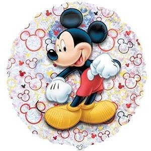 Folienballon Mickey Mouse Holografie, ca. 50 cm
