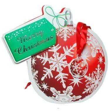 Geschenktasche Weihnachtskugel, 3D-Optik