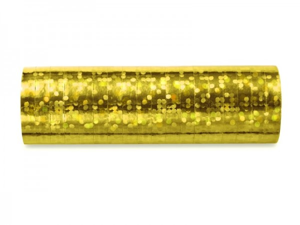 Luftschlangen, Metallic Holografie GOLD, 1 Rolle