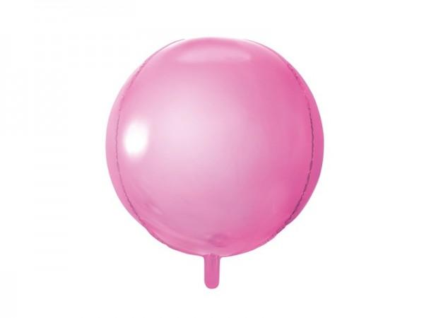 Folienballon Ball/Kugel, ca. 40 cm, rosa