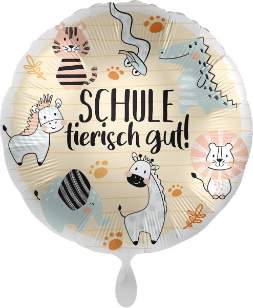 Folienballon Schule tierisch gut ! ca. 45 cm