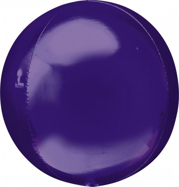 Folienballon Ball/Kugel Orbz , ca. 40 cm, lila