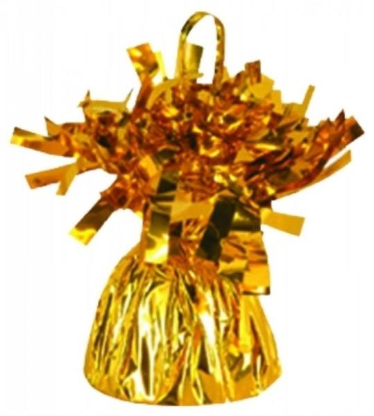 Ballongewicht Folie mit Fransen, ca. 170 gr., gold