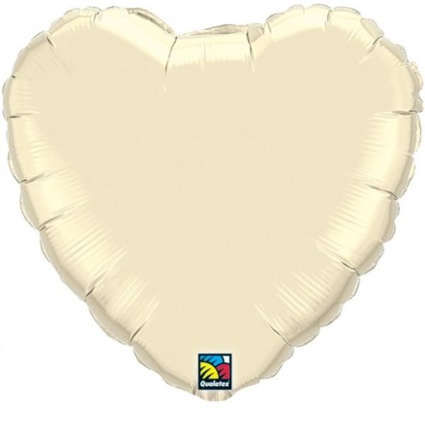 Ballongruß: Herz, champagner, ca. 45 cm