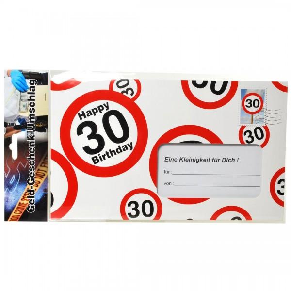 Riesen-Umschlag 30 Verkehrsschilder, ca. 18 x 30 cm
