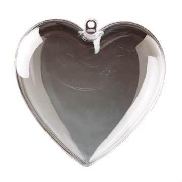 Herz Acryl, teilbar, ca. 14 cm