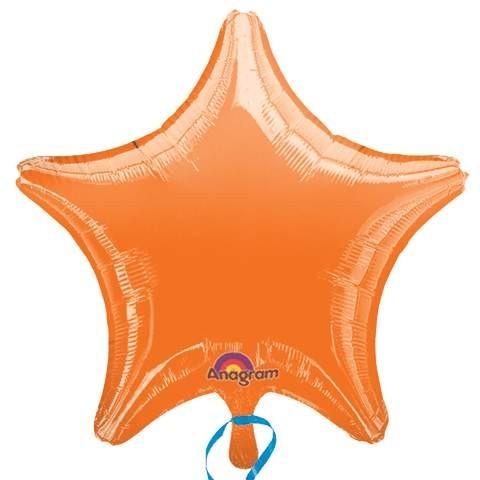 Ballongruß: Stern, orange, ca. 50 cm