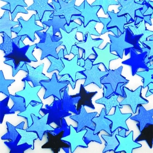 Folien-Konfetti Sterne, blau, Box ca. 5,7x4x1,2 cm