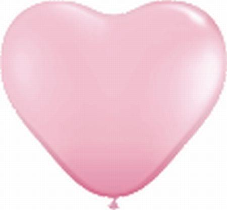50 Herzballons rosa, Sempertex, ca. 40 cm