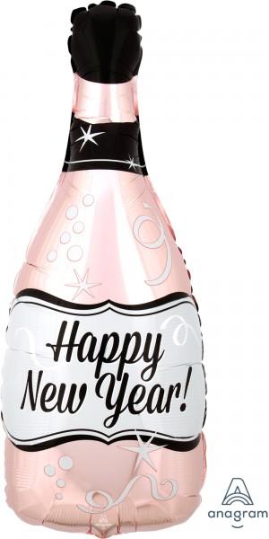 Folienballon Sektflasche Happy New Year rose gold ca. 66 cm