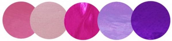 Konfetti Punkte in rosa/lila aus Metallic-Folie, ca. 2 cm, 15 gr.