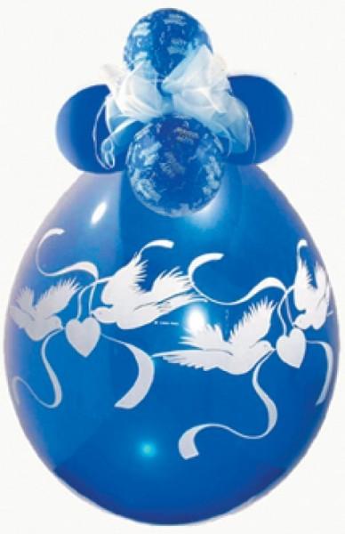 Tauben Verpackungsballon, transparent, Qualatex, ca. 45 cm