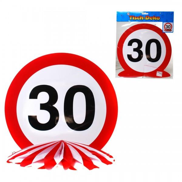 Tischdeko 30 Verkehrsschild, Schild auf Wabenfächer, ca. 25 cm