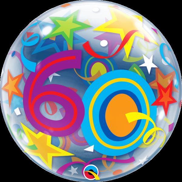 Bubble 60 bunt Qualatex, ca. 56 cm