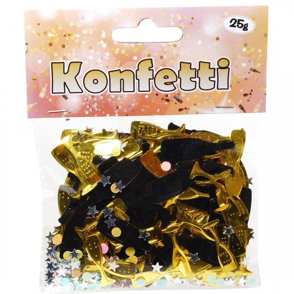 Folien-Konfetti Sektgläser- und Flaschen ca. 25 gr.