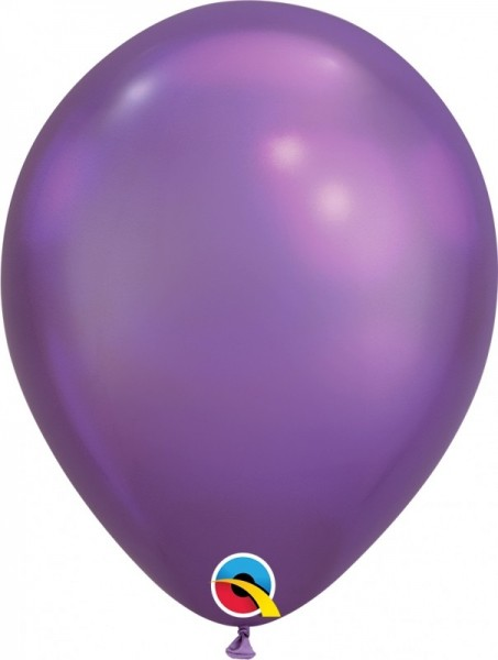 "100 Ballons Qualatex, 7"", Chrome lila"