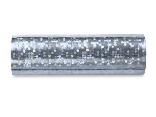 Luftschlangen, Metallic Holografie, Silber, 50 Rollen