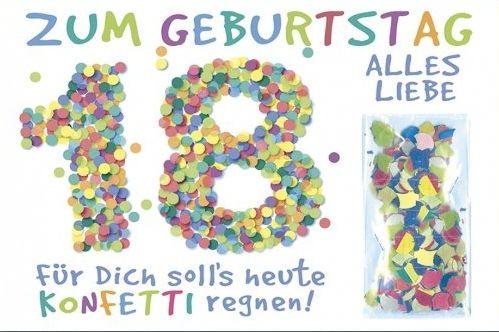 Grußkarte: Zum Geburtstag alles Liebe 18 - Konfetti