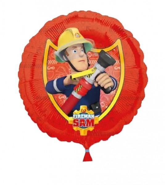 Ballongruß: Fireman Sam Feuerwehrmann, ca. 45 cm
