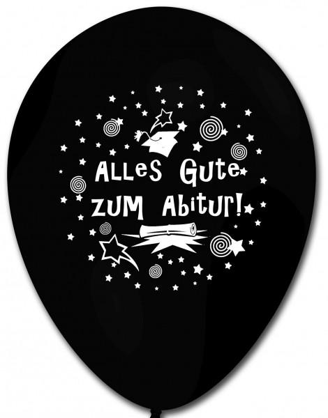 10 Ballons Abitur, schwarz, ca. 30 cm