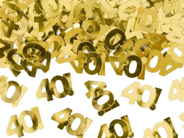 Folien-Konfetti 40, gold, ca. 15 gr.