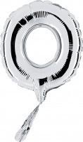 Folienballon Buchstabe O, silber, ca. 35 cm, für Luftbefüllung