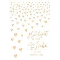 Grußkarte DIN A4: Zur Hochzeit von Herzen alles Liebe für Euer gemeinsames Leben