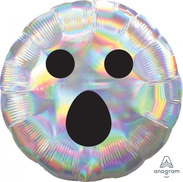Folienballon Geist Gesicht, Holografisch ca. 43 cm