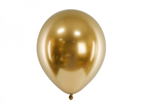 Chrome Glossy Ballons - gold - ca. 27/30 cm