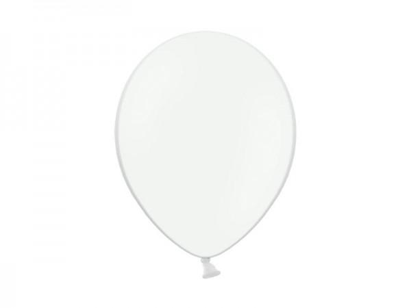 Weiße Metallic-Ballons Mini, 50 St.