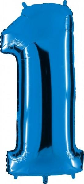 Ballongruß: Riesenzahl 1 BLAU, ca. 63 cm
