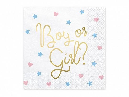 Servietten Boy oder Girl, ca. 33x33 cm, 20 St.